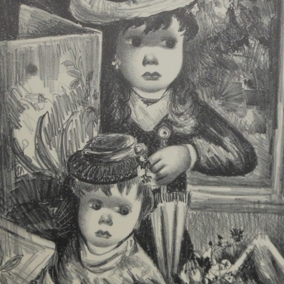 The Little Sisters by Jean Calogero, 1922-2001; AAA lithograph, ca. 1945
