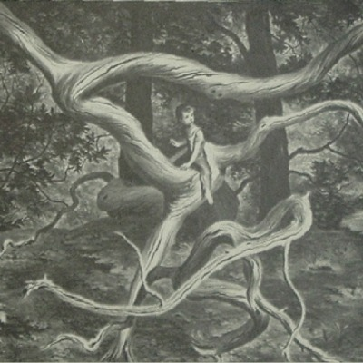 "Lawrence B. Smith ""Forest Flight"" 1949 lithograph"