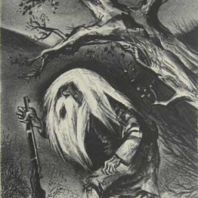 William Gropper; Rip Van Winkle; Lithograph 1947
