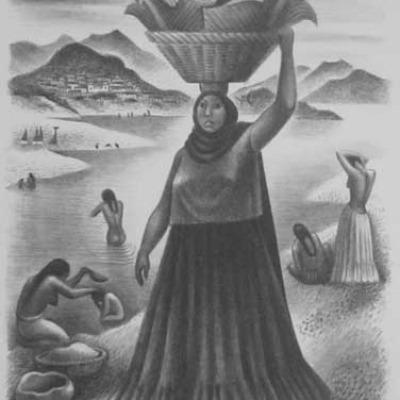 Miguel Covarrubias; Tehuantepec River; Lithograph 1951