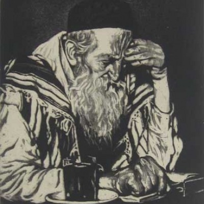 Joseph Margulies; The Seeker; Aquatint Etching
