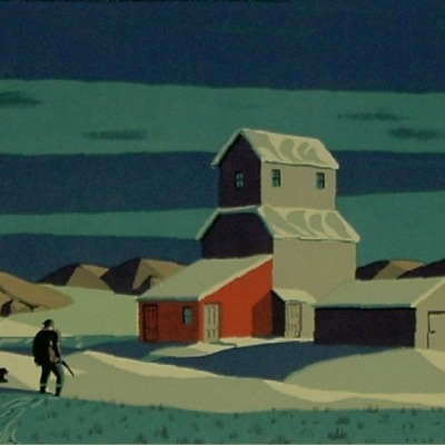 "Dale William Nichols ""Winter Scene"" color serigraph"