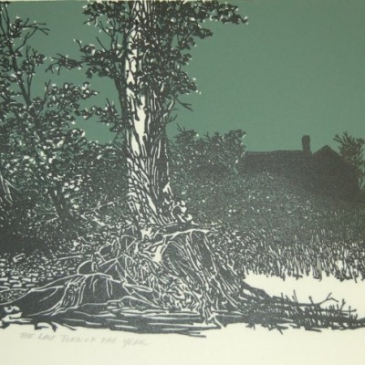 The Last Turn of the Years by Frank C. Eckmair; 1972 Woodcut