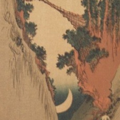 The Bow Moon by Hiroshige Andō, 1832 Woodcut