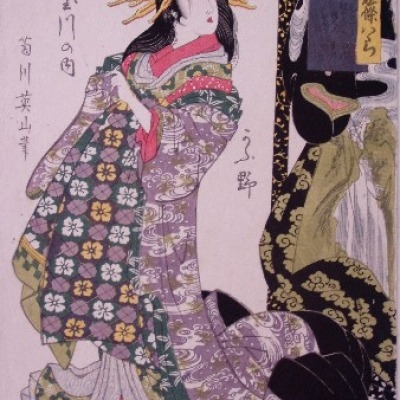 Untitled Color Woodblock by Eizan Kikukawa, 1804-18