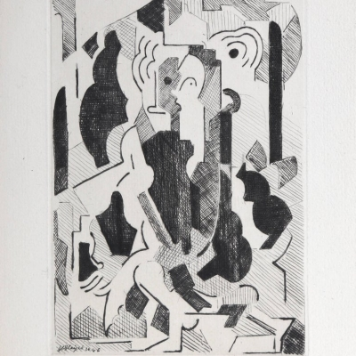 Abstract by Albert Gleizes, 1946 Etching