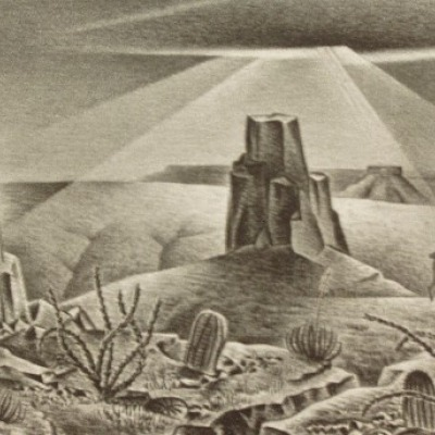 Desert Glare by Alexandre Hogue, Lithograph 1945