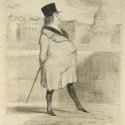 Bohemians de Paris by Honoré Daumier,1842 Lithograph