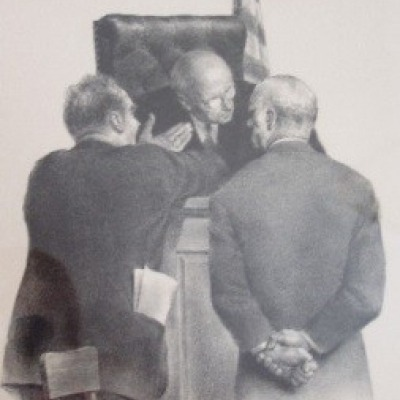 Conference at the Bench by Joseph Hirsch