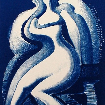 Coquette by Alexander Archipenko, 1955 Lithograph