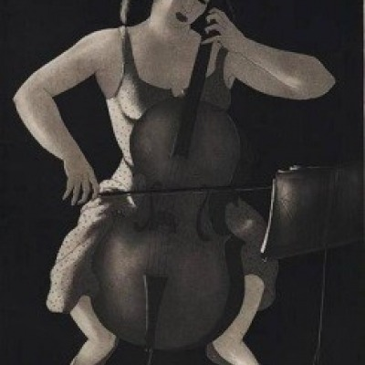 Evening Music by Doel Reed, Etching 1946