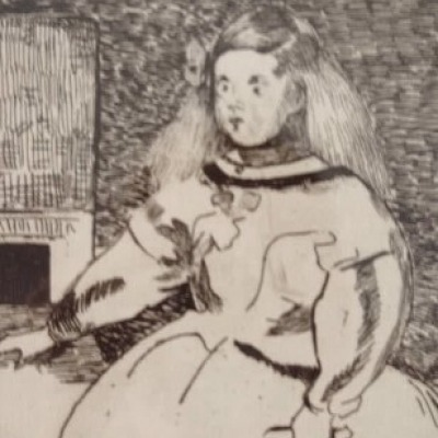 Infante Marguerite by Edouard Manet, Etching 1862