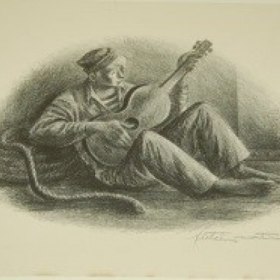 Evening Song by Fletcher Marin, Lithograph 1946