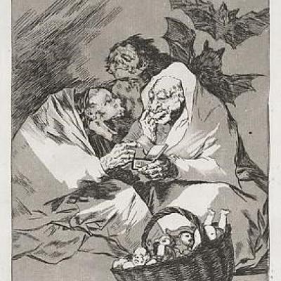 Mucho hay que Chupar by Francisco Goya, Etching 1799