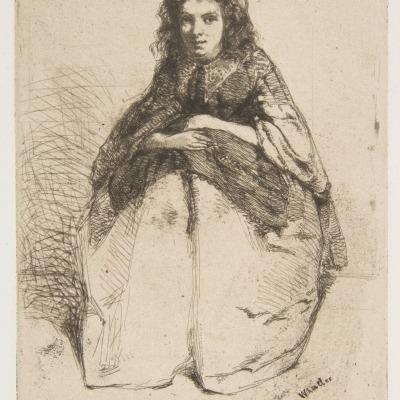 Fumette by James Abbott McNeill Whistler,1858 Etching