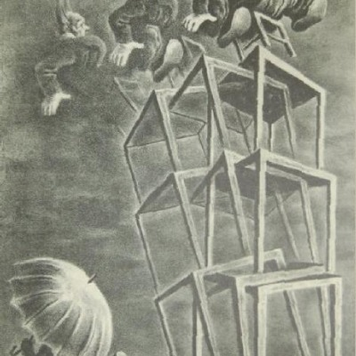 Equilibrium by Georges Schreiber, Lithograph 1950