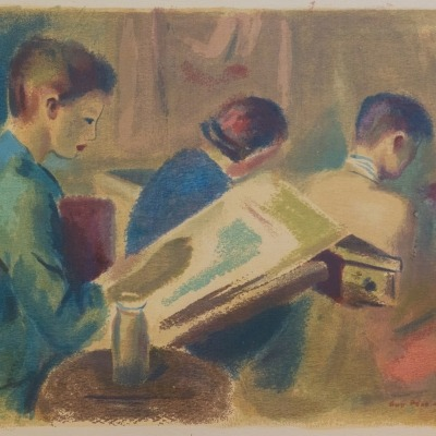 The Art Class by Guy Pene Du Bois, 1943