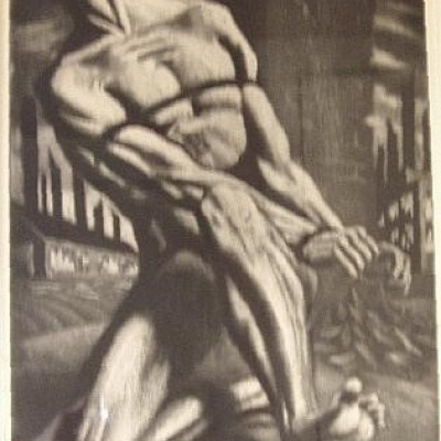 Enough! By Harry Sternberg, Etching 1947