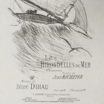 Les Hirondelles de Mer by Henri de Toulouse-Lautrec, Lithograph 1895