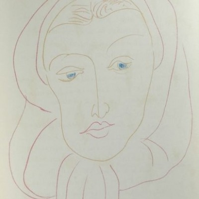 Illustration for Charles d'Orleans by Henri Matisse, 1950 Lithograph