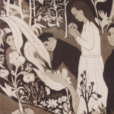 The Garden Ode by Jack Bilander, 1965 Etching