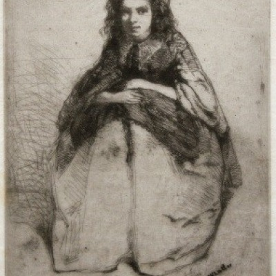 Fumette by James McNeil Whistler, Etching 1858