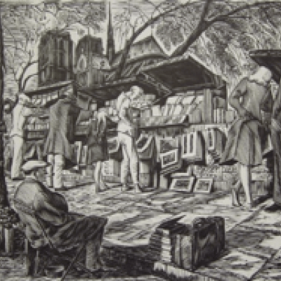 Untitled Ca. 1950 Woodcut by Jean Chièze