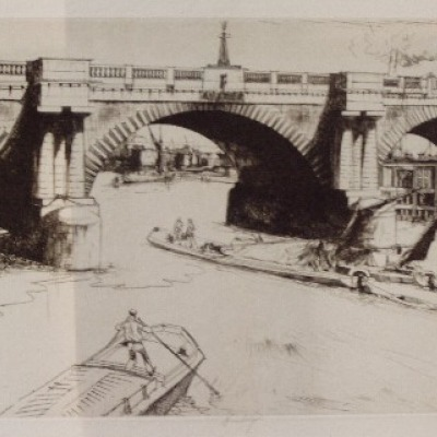 Waterloo Bridge (Bermondsey, London) by John W. J. Winkler, 1927-8 Etching