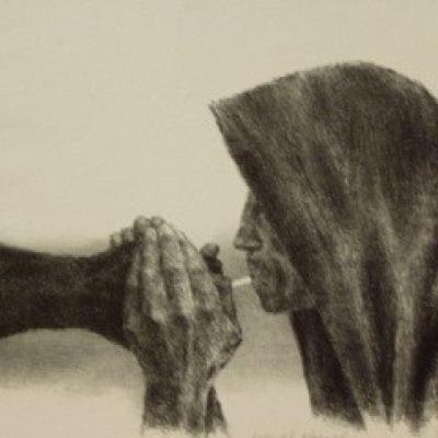 Survivor by Joseph Hirsch, Lithograph 1954