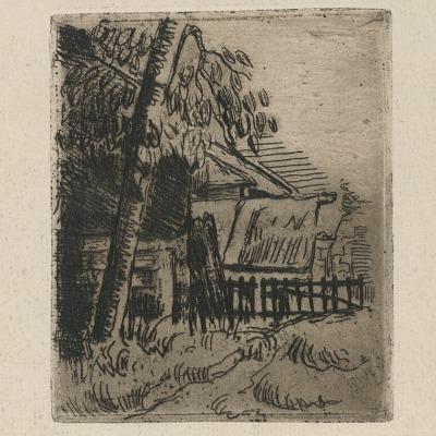 Landscape Near Auvers by Paul Cézanne, 1873 Etching