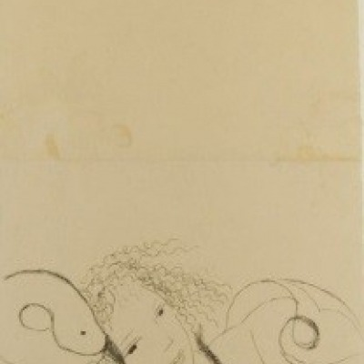 Leda and the Swan by Marie Laurencin, 1950 Etching