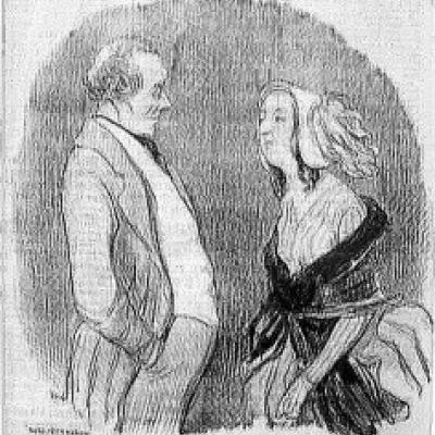 Les beaux Jour de la Vie by Honore Daumier