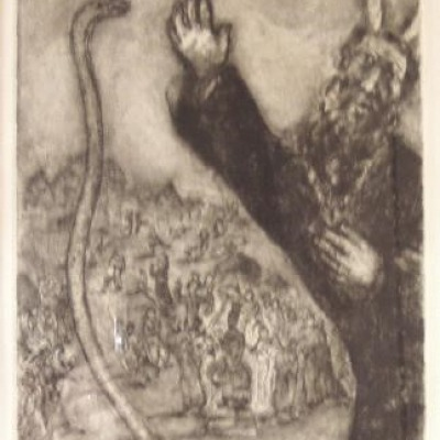 At God's Command by Marc Chagall, Etching 1931