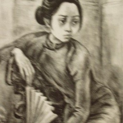 Hong Kong Girl by Marion Greenwood, AAA Lithograph 1948