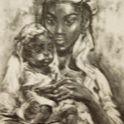 Carib Mother by Marion Greenwood, AAA Lithograph 1954