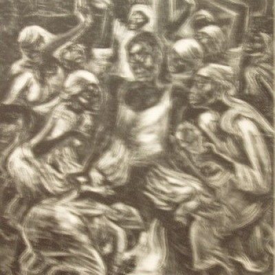 Voodoo Ritual by Marion Greenwood, 1951 Lithograph