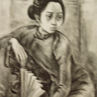 Hong Kong Girl by Marion Greenwood, 1948 Lithograph