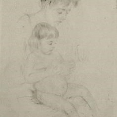 The Manicure by Mary Cassatt, Etching 1908
