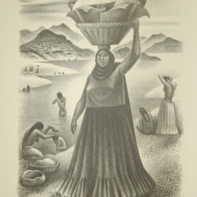 Tehuantepec River by Miguel Covarrubias, 1951 Lithograph