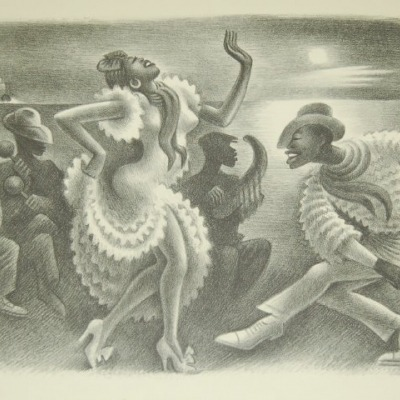 Rumba by Miguel Covarrubias, 1946 Lithograph