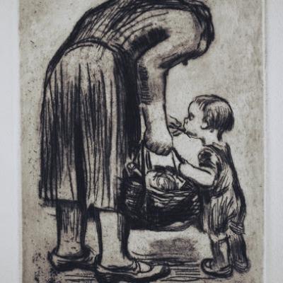 Mother Feeding Child by Käthe Kollwitz, 1928 Etching