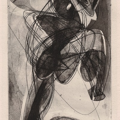 Personnage Agenouille by Stanley William Hayter,1950 Etching