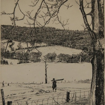 Powder Snow by Philip Kappel, 1953 Etching