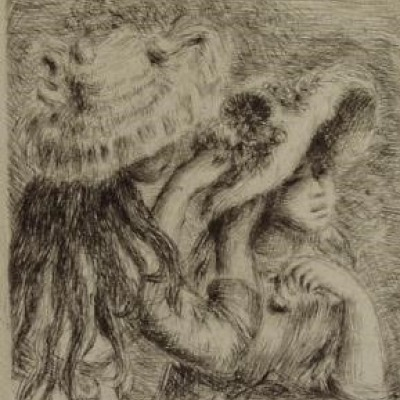 Chapeau Epingle by Pierre-Auguste Renoir, Etching 1921
