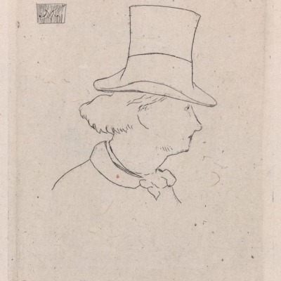 Portrait of Baudelaire by Edouard Manet,1862 Etching