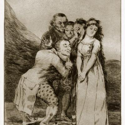 Que Sacrificio by Francisco y Lucientes Goya,1798 Etching