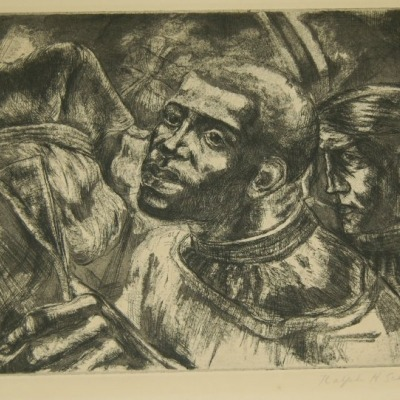 Israel in Egypt's Land by Ralph Scharf, 1947 Etching