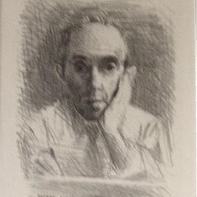 Self Portrait by Raphael Soyer, AAA Lithograph 1954