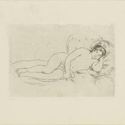 Reclining Nude by Pierre-Auguste Renoir, 1906 Etching
