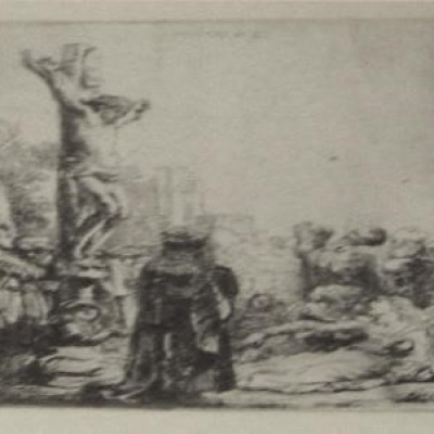 The Crucifixion by Rembrandt Van Rijn, Etching 1634